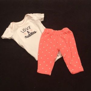 Carter's Love And Cuddles Outfit